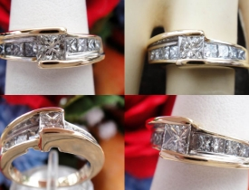 1.25CT Princess Signature Kate McCullar Diamond Ring Price: $995