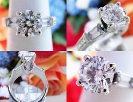 "1.49CT Round Brilliant Diamond ""Simon G"" Platinum Engagement Ring EGL Certified and Appraised at $15,900 Price: $4,495"