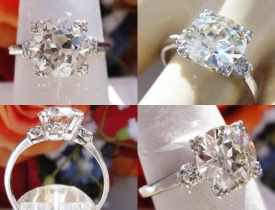 2.38CT European Diamond Platinum Engagement Ring Certified and Appraised at $30,846 Price: $8,995