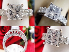 2.65CT Princess Diamond Engagement Ring IGI Certified and Appraised at $19,649 Price: $6,500