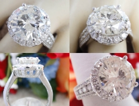 4.52CT Round Brilliant Diamond Halo Engagement Ring Certified and Appraised at $32,600 Price: $13,500