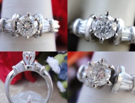 0.60CT Round Brilliant Diamond Platinum Engagement Ring UGL Certified and Appraised at $3,000 Price: $1,150