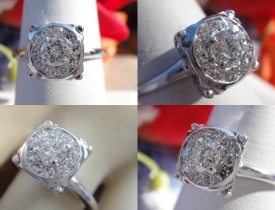 0.75CT Round Brilliant Diamond Engagement Ring Price: $750