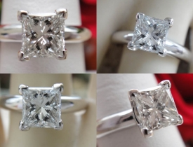 1.01CT Princess Diamond Engagement Ring IGI Certified and Appraised at $7,700 Price: $3,495
