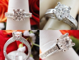 "1.56CT Round Brilliant ""Simon G"" Engagement Ring IGI Certified and Appraised at $16,120 Price: $5,995"