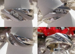 0.15CT Mens 10KT Solid White Gold Wedding Band Price: $350