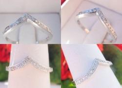 0.18CT Round Cut Diamond Wedding Band 14kt White Gold Price: $350