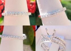 0.20CT Round Cut Diamond Wedding Band (Matching) 14kt White Gold Price: $595
