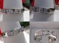 0.50CT 14KT White Gold Wedding Band Price: $450