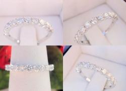 0.60CT Round Brilliant Diamond Wedding Band 14kt White Gold Price: $995