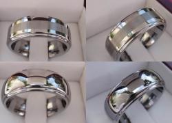 Mens Tungsten Carbide Wedding Bands Price: $95