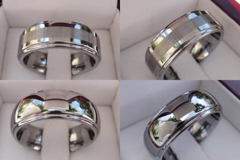Mens Tungsten Carbide Titanium Wedding Bands Wholesale Diamond